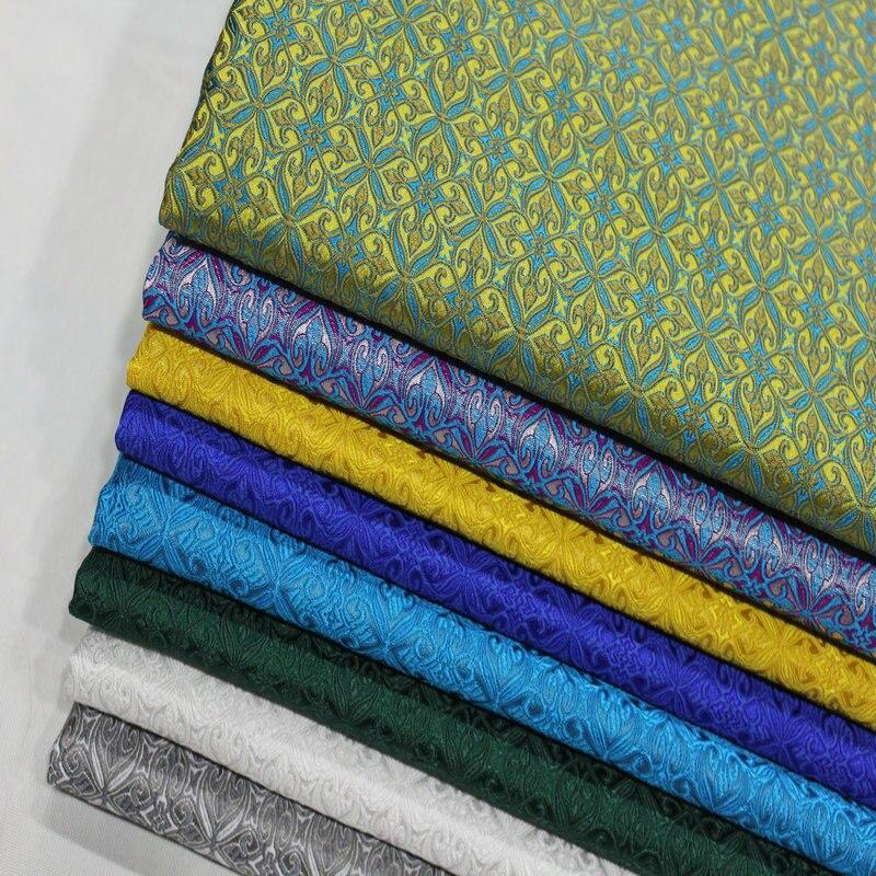 Breite 75cm Dichten Chinesischen Kleid Damast Kostüm Tuch Faux Seide Trim Unter kleid material Material Diy Jacquard Brokat Stoff