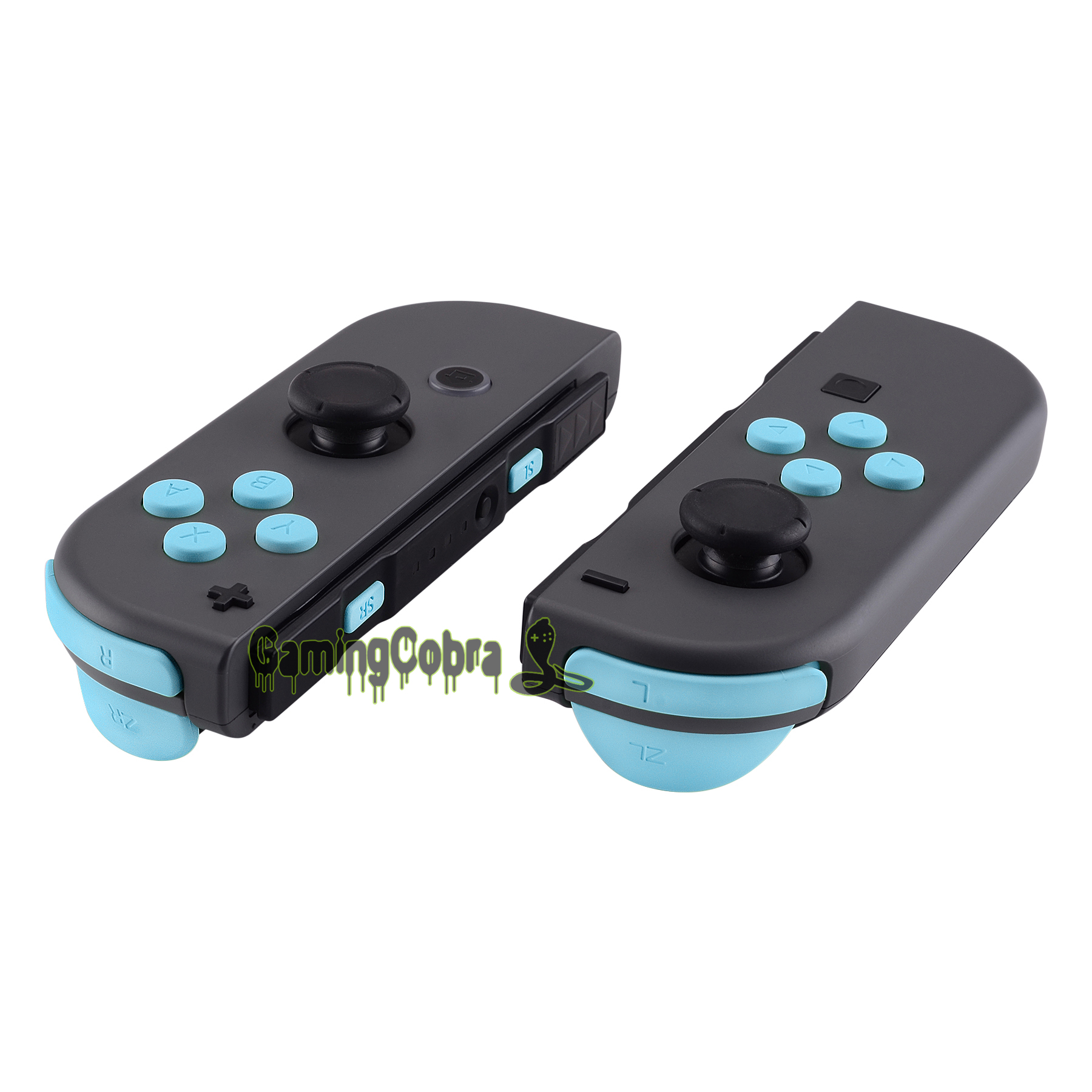 Soft Touch Heaven Blue Repair ABXY Direction Keys SR SL L R ZR ZL Trigger Full Set Buttons W/ Tools For Nintendo Switch Joy-Con