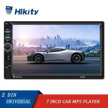 """Hikity Podofo Universal 2 DINรถวิทยุ 7 """"AutoradioมัลติมีเดียMirror Link Auto Audioสเตอริโอสนับสนุนกล้อง"""