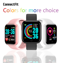 D20 Pro Smart Watch Y68 Bluetooth Fitness Tracker Sports Watch Heart Rate Monitor Blood Pressure Smart Bracelet for Android IOS smart bracelet health couple smart band heart rate blood pressure monitor fitness tracker sports watch bluetooth for android ios