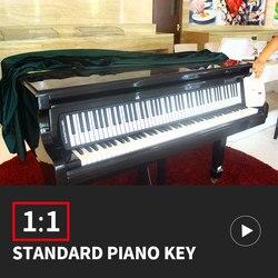88 لوحة مفاتيح البيانو الرئيسية لينة المحمولة ميدي جهاز تحكم رقمي المزج نشمر البيانو المبتدئين الآلات الموسيقية الإلكترونية