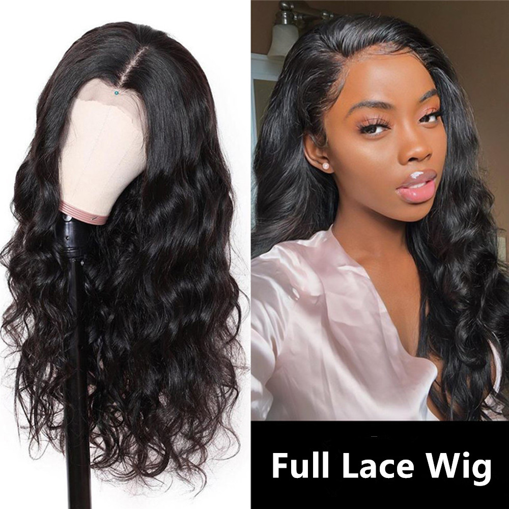 Full Lace Human Hair Wigs For Black Women Loose Wave Brazilian Frontal Wigs Remy Hair 150% Density Wavy 13x4 Lace Front Wig