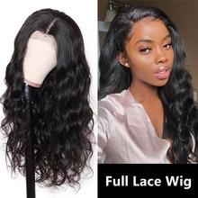 Perruque Full Lace Wig naturelle brésilienne Remy, cheveux humains, 13x4, densité 150%, pour femmes africaines