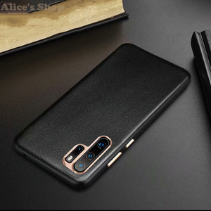 Image 2 - Originele Xoomz Case Cover Voor Huawei P30 Pro Luxe Echt Lederen Case Voor Huawei P30/ P20/ Pro Metalen element Back Cover Cases