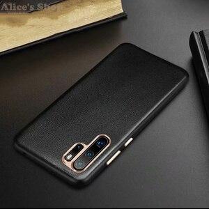 Image 2 - Oryginalny XOOMZ skrzynki pokrywa dla Huawei P30 Pro luksusowe oryginalne skórzane etui do Huawei P30/ P20/ Pro metalowe elementy tylnej okładki