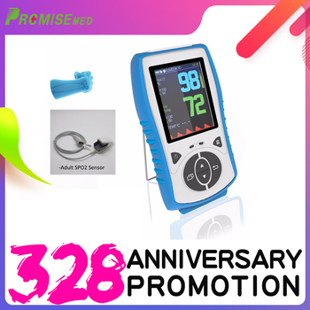 Adult Sensor Handheld Pulse Oximeter With Temperature Probe Blood Oxygen Monitor,2.8 LCD,Pulse Blood Oximetro CE Approval