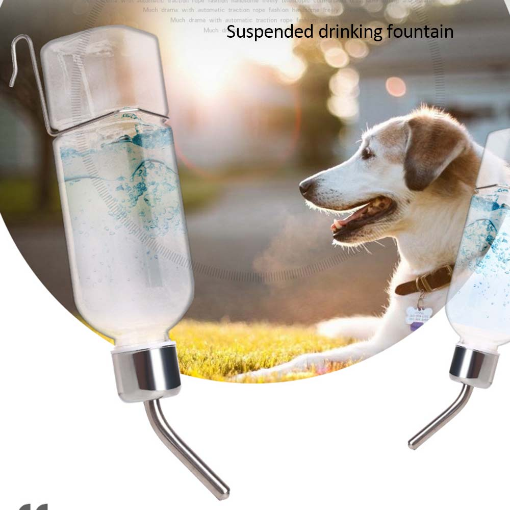 New Cat Pet Drinker Water Bottle Dispenser Feeder Hanging Pet Dog Guinea Pig Squirrel Rabbit Drinking Head Pipe Fountain 4
