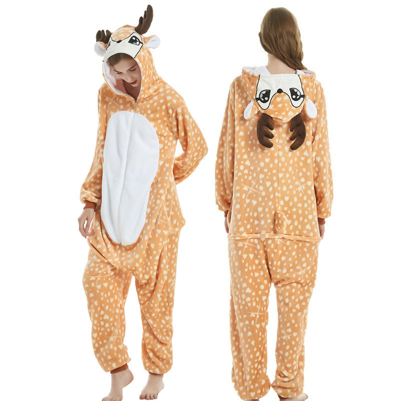 2020 New Xmas Onesie Kigurumi Unicorn Onesies Animal Pajamas Adult Women Onesie Hooded Rabbit Panda Pikachu Totoro Kegurumi