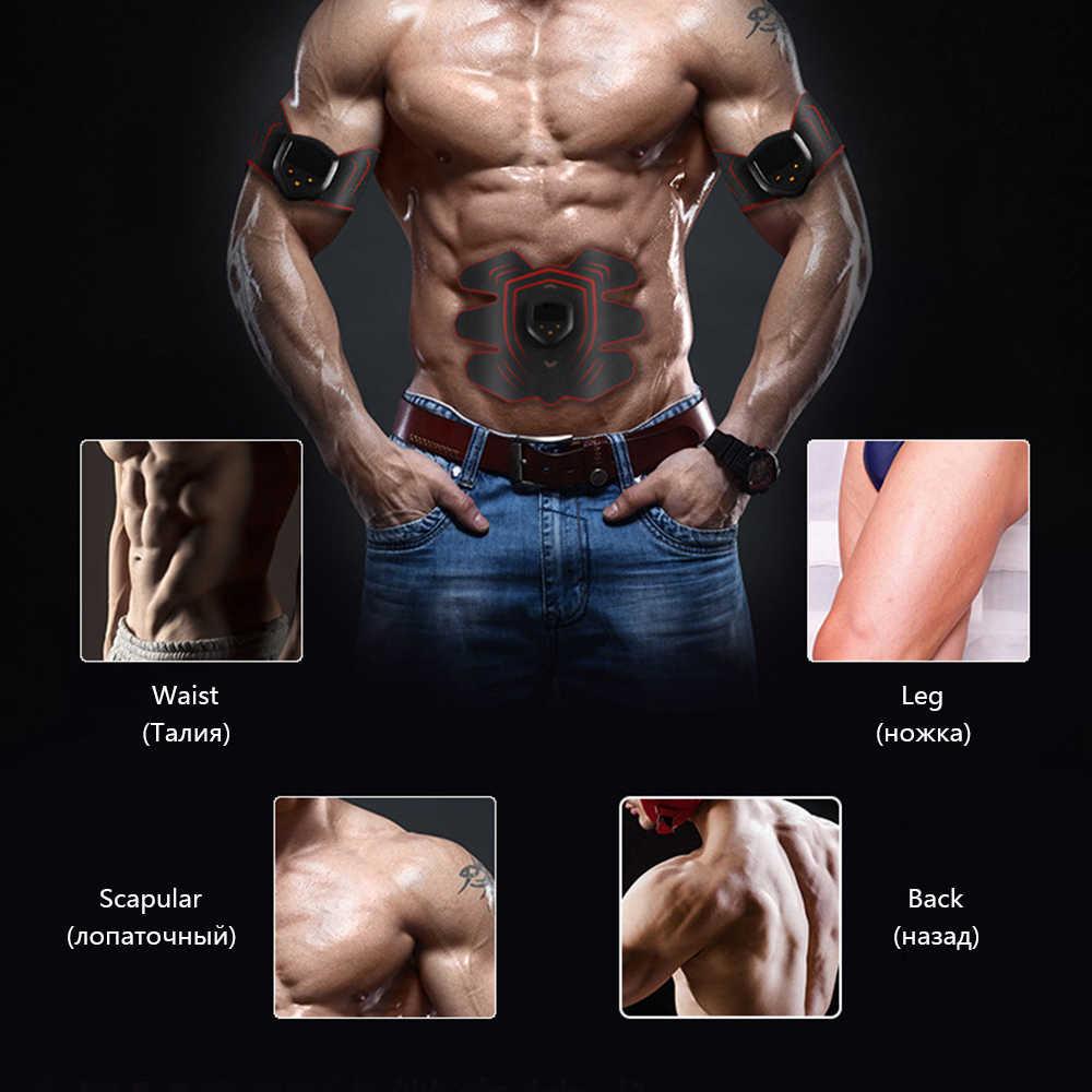 充電式 EMS 電気腹部筋肉刺激トレーナースマートフィットネス減量のステッカーボディ痩身ベルトユニセックス健康