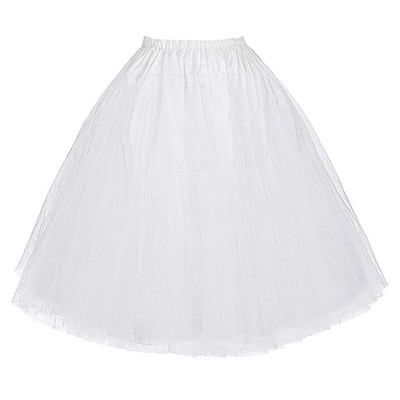 3-layer Ribbon Petticoat Summer Petticoat Fluffy Organza Skirt Retro Dress Short Skirt Dance Plus Size
