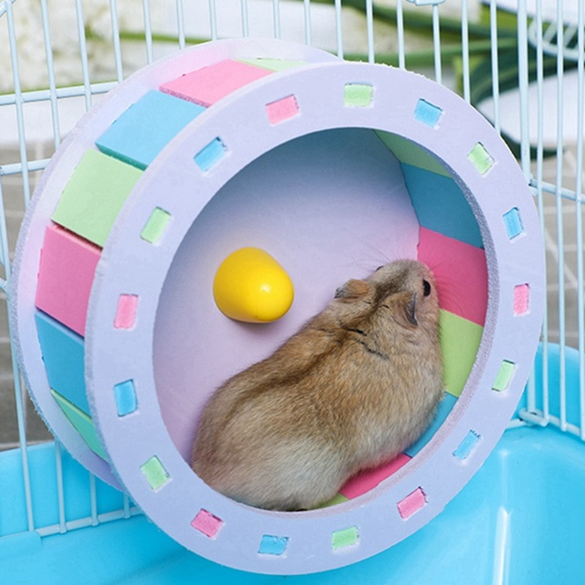 Pet Sports Fitness Hamster Running Wheel Hamster Jogging Wheel DIY Mute Color Funny Running PVC Disc Toy Hamster Pet Products