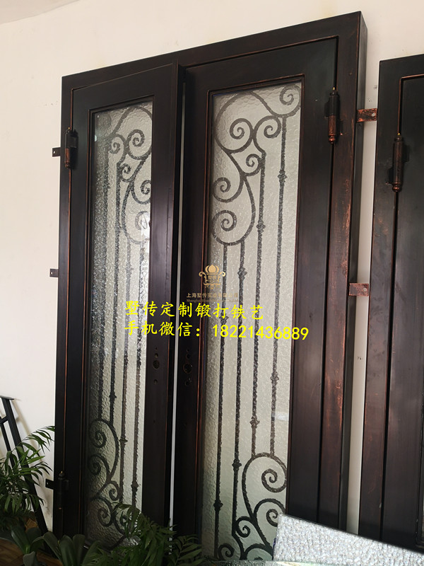 Shanghai Hench Brand China Factory 100% Custom Made Sale Australia Wrought Iron Security Doors Near Me