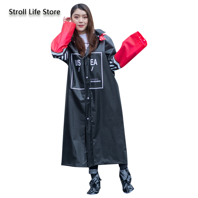Long Raincoat Women Adult Rain Poncho Hiking Rain Coat Jacket Thicken Waterproof Suit Transparent Plastic Suit Impermeable Gift