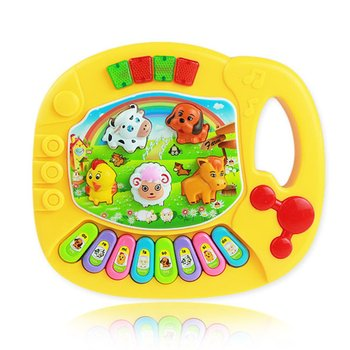 Popular Musical Instrument Toy Baby Kids Animal Farm Piano Developmental Music Toys for Children popular musical instrument keyboard toys portable baby kids animal farm music piano developmental toy children gifts
