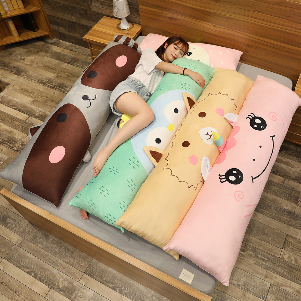 150cm Cute Unicorn Pillow Long Strip Pillow Leg Sleeping Pillow Removable And Washable Hamster Dinasour Raccoon Pillow Gift