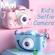 Mini aparat fotograficzny dla dzieci aparat cyfrowy zabawka z kreskówki kamera HD dla dzieci edukacyjne aparat fotograficzny dla dzieci zabawki dla chłopca dziewczyna najlepszy prezent tanie tanio 2x-7x CN (pochodzenie) Obiektyw-Style Kamery Hd (1280x720) 2 3 cali 18-55mm 5 0-9 9MP Karty SD Standardowy ekran 2 -3