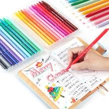 Monami multi cor fina forro canetas conjunto 12/24/36 cores toque macio ponta micron escrita desenho pintura lettering escola arte a6261