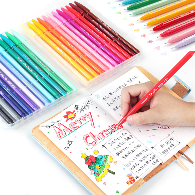 Multi Color Fine Liner Pens Set 12/24/36 Colors Soft Touch Micron Tip Writing Drawing Painting Lettering Office School Art A6261