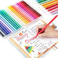 Multi cor fina forro canetas conjunto 12/24/36 cores toque macio mícron ponta escrita desenho pintura lettering escritório escola arte a6261