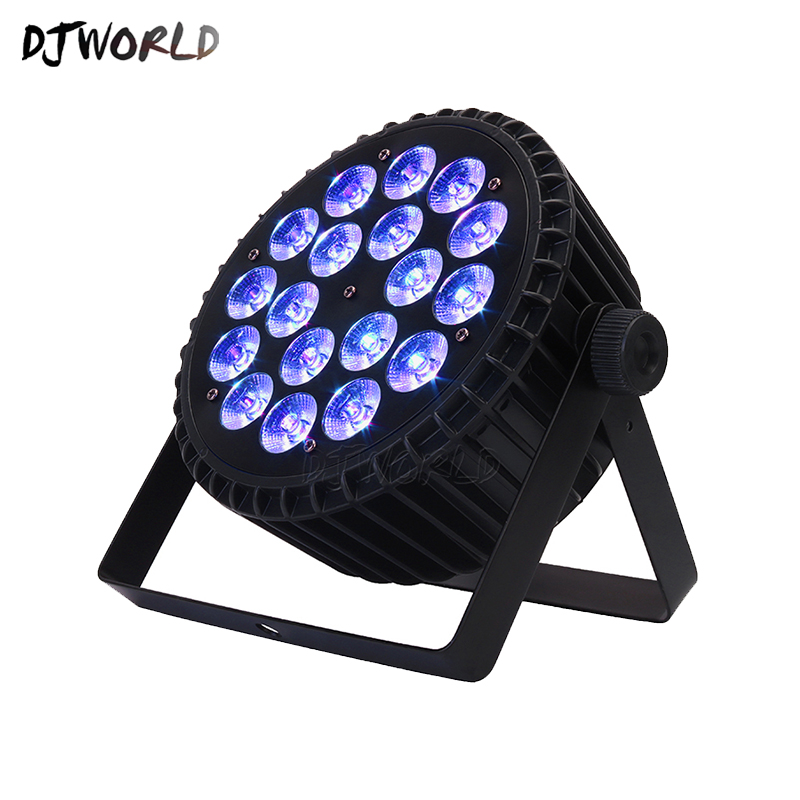 4pcs/lot Aluminum Alloy LED Par 18x18W RGBWA+UV Color Lighting DMX512 Channels For Event Disco Party Nightclub Ballroom Stage