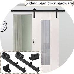 Оборудование для раздвижной двери сарая трек набор для раздвижных ворот шкаф набор вешалка 6/6.6 футов