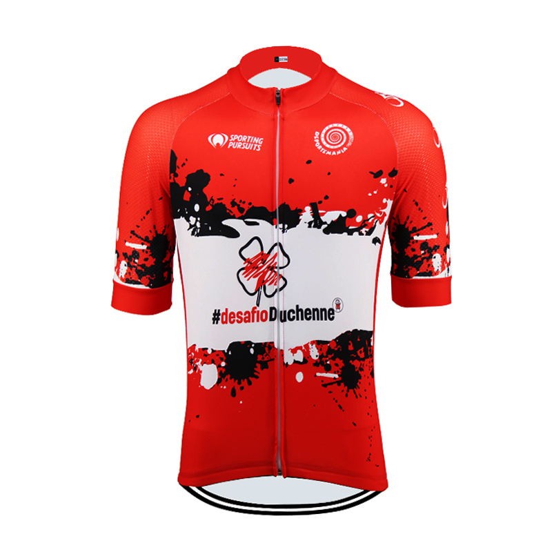 Spain New Summer Short Sleeve Sportwear Cycling Jersey Clothing MTB ROAD Bike Wear Clothes Breathable Shirt Red