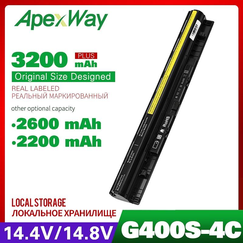 4 Cell 14.8v 2200mAh Laptop Battery For Lenovo Z710  G400s G500s G510s G505s S410p L12L4E01 L12M4E01 L12L4A02 L12M4A02