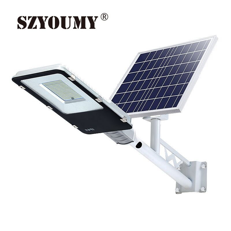 SZYOUMY Solar Street Light Outdoor LED Flood Lights 20W With Remote Control Timing High Brightness Dusk To Dawn Security Light
