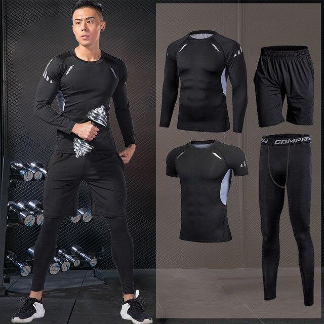 Простой мужской спортивный костюм для зала 3