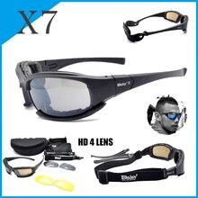 Daisy X7 Polarized Tactical Glasses Military Goggles Army Su
