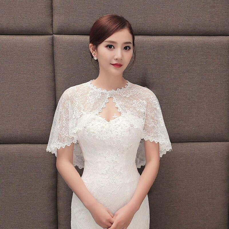 Short Black Bolero Wedding Lace Shawl Bridal Jacket Coat Women Girl Shrug Wraps Pink Champagne White Cape Mariage For Dress