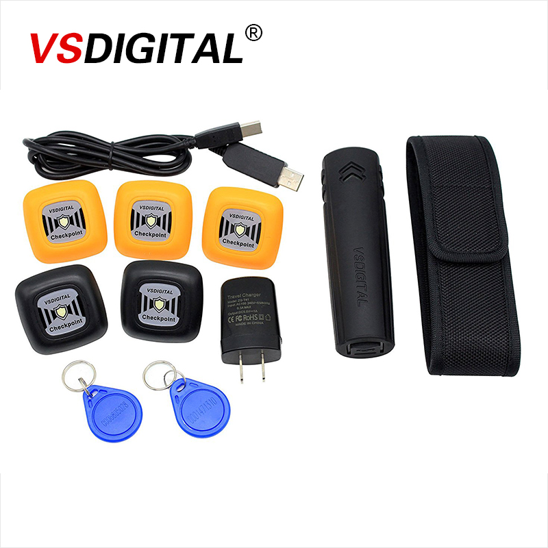Super Weatherproof RFID guard patrol system with battery//charger