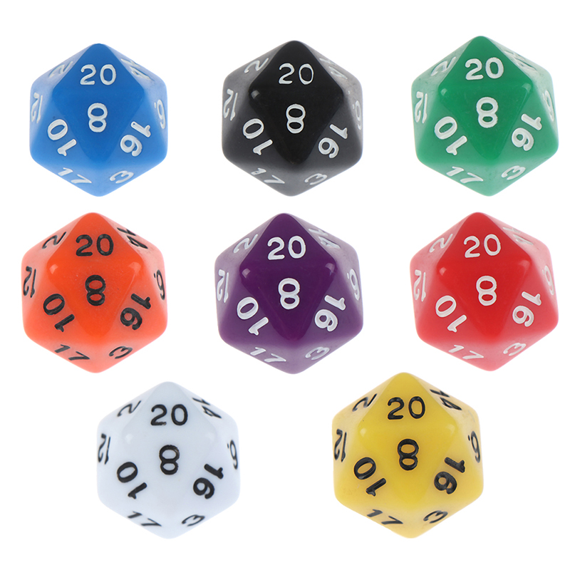 1PC Digital Dice Game Dices Set Polyhedral D20 Multi Sided Acrylic Dice Gift Desktop Game Accessories For Board Game