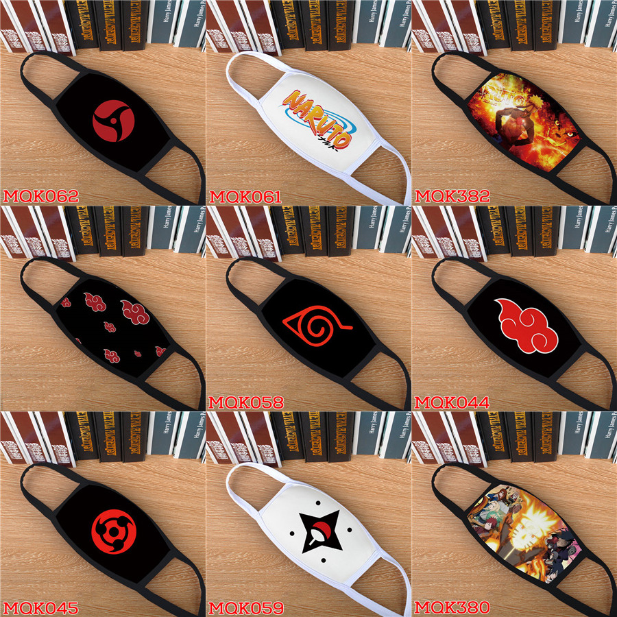 Naruto Mask Akatsuki Uchiha Itachi Sharingan Cosplay Masks Konoha Kakashi Teen Tokyo Ghoul Breathable Billie Eilish Masque