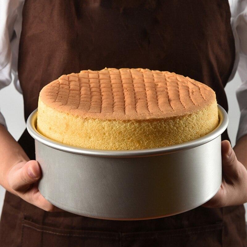 1PC Salad Cheese Round Cake Ring Mold DIY Stainless Steel Bakeware Baking Tools Cake Baking Mousse Ring Dessert For Kitchen