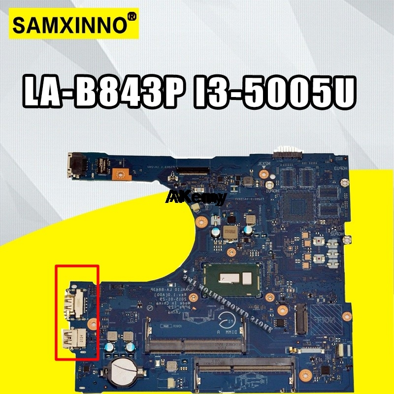 For Dell Inspiron 15 5458 5558 5758 laptop Motherboard AAL10 LA-B843P I3-5005U <font><b>SR27G</b></font> mainboard image