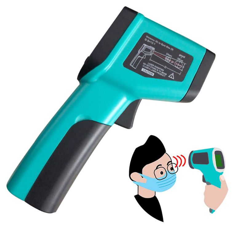 DT8380C podręczny termometr na podczerwień bezdotykowy cyfrowy termometr przemysłowy