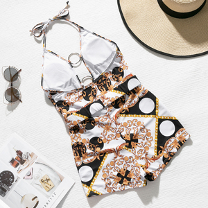 Image 4 - In X Paisley print badeanzug one stück Tiefer v ausschnitt bademode frauen Sommer sexy einem stück body anzüge Vintage monokini bikinis