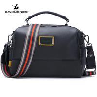 DAVIDJONES women crossbody bag pu leather female shoulder bag small spring patchwork lady top handle bag handbag drop shipping