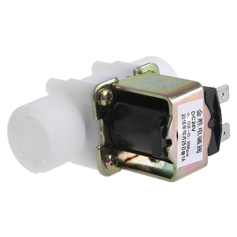 "3/4"" Plastic Solenoid Valve 12V 24V 220V PP N/C Magnetic Washing Machine Dispenser  Water Pneumatic Pressure Controller Switch 5"
