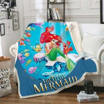 Cartoon Mermaid Blanket Design Flannel Fleece Blanket Printed Children Warm Bedspreads Quilt Throw Blanket Kids Blanket style-1 фото