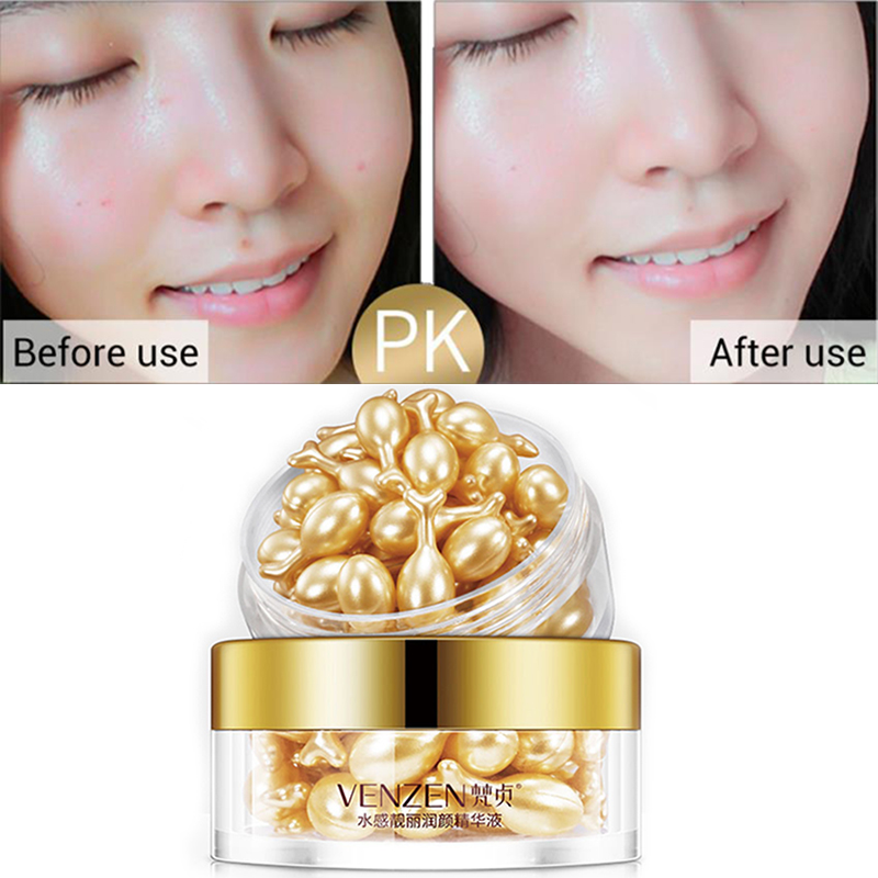 30Pcs/Bottle Hyaluronic Acid Essence Capsules Anti-aging Vitamin E Serum Spot Acne Removing Whitening Cream Essence Face Care