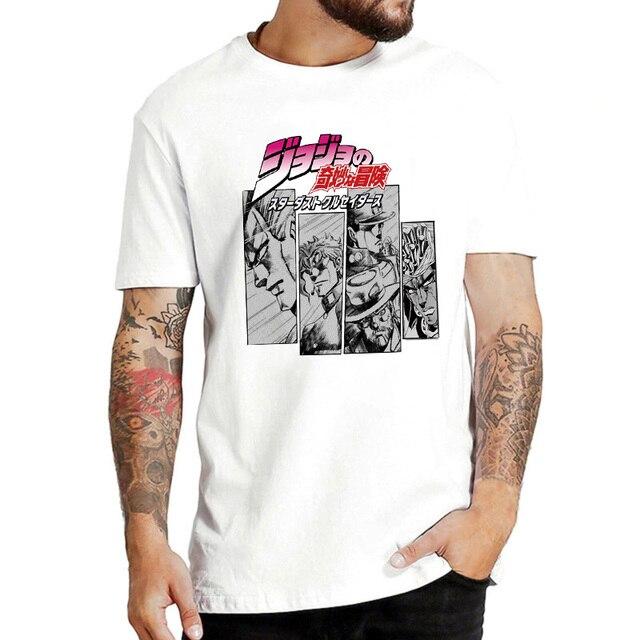Jojo's Bizarre Adventure Japanese Anime T Shirt Men Harajuku Streetwear T-shirt Funny Cartoon 90s Tshirt Cool Top Tees Male 4