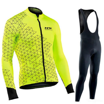 Northwave NW 2020 Pro team Cycling Clothes men's long sleeve Jersey suit Breathable autumn outdoor riding bike MTB clothing set
