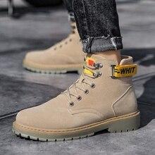 KATESEN new men boots fashion basic ankle suede Oxford high quality warm non-slip work Martin