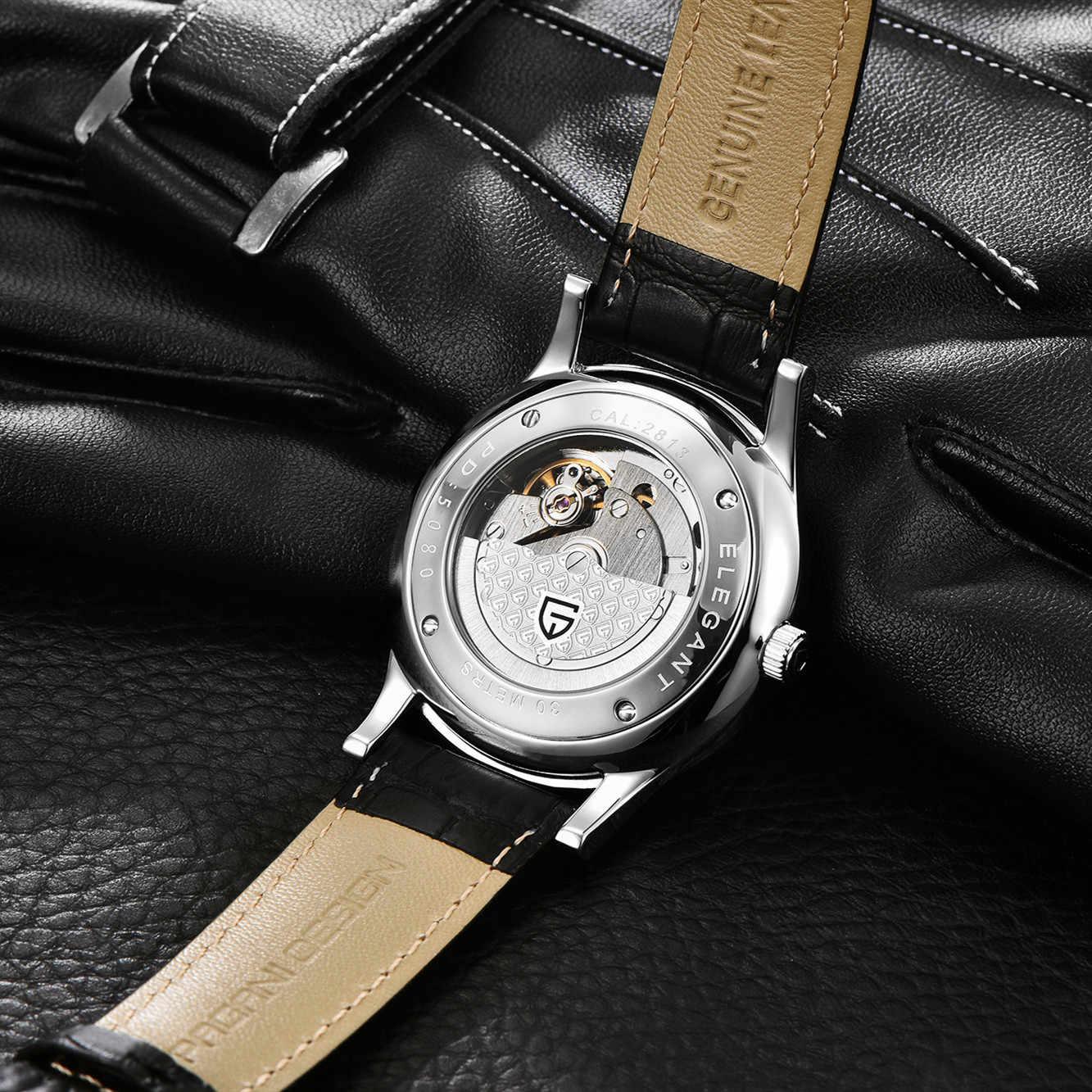 Pagani Desain Pria Bisnis Kasual Mekanis Jam Tangan Tahan Air Merek Mewah Leather Automatic Watch Relogio Masculino + Kotak