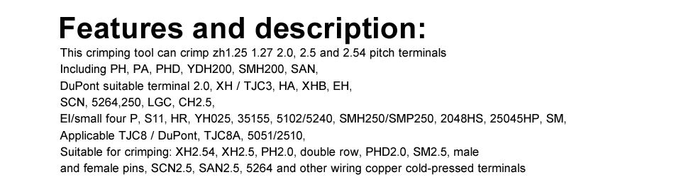 sm2.5 2510 pinos do conector do estreito-passo