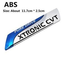 цена на 1pcs PURE DRIVE XTRONIC CVT 3D Car emblem Badge for Nissan Qashqai X-trail Juke Tenna Tiida Sunny Note Car Styling