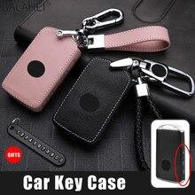 Leather Car Key Cover Case For Mazda 3 Alexa CX 30 CX30 CX5 CX 5 CX 5 CX8 CX9 CX4 2019 2020 Auto Accessories Keychain Keyholder