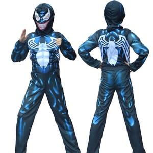 Halloween New Arrival dziecko jad pająk mięśni kostium człowiek pająk chłopcy superbohater Cosplay wymyślna baśniowa sukienka